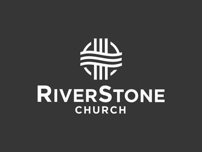 Test church logo stone river cross logo church
