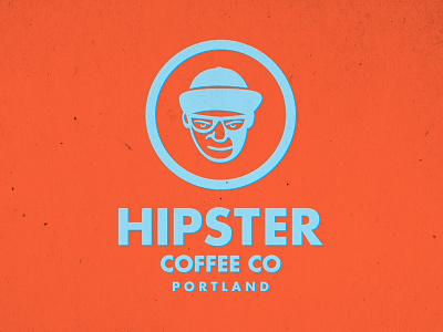 Hipster Coffee Company mark logo coffee hipster