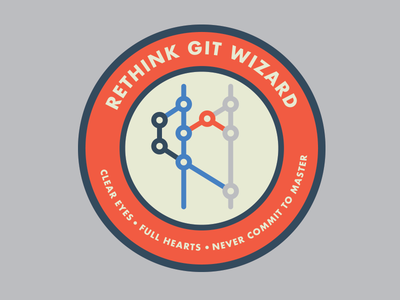 Sticker for an upcoming training at work simple coding programming badge sticker git