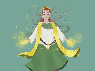 Pheris the Steward fairy elf character character design illustration