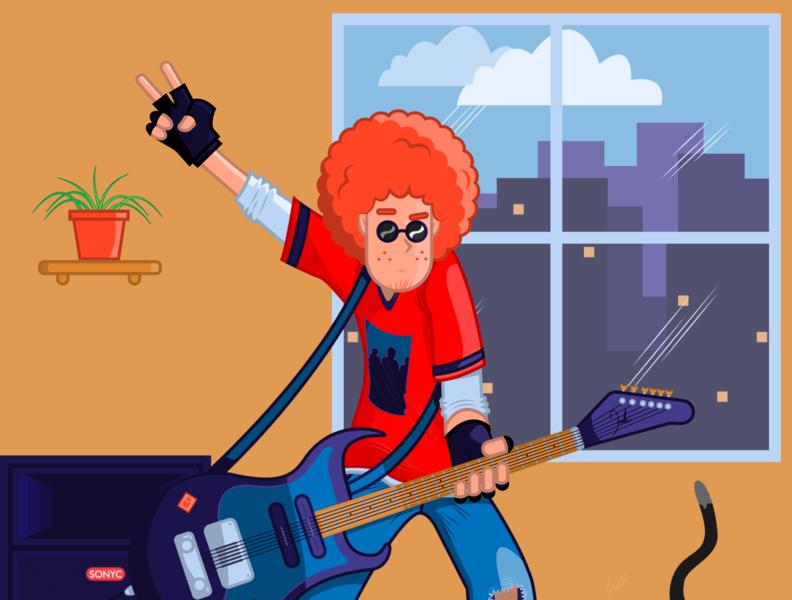 Guitarist vector illustration cartoonnetwork cartoons illustrations illustration art digital painting digital illustration digitalart illustrator vector illustration