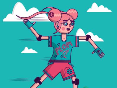 Skater Girl vector illustrator illustrations illustration art illustration digital painting digital illustration digitalart cartoons cartoonnetwork