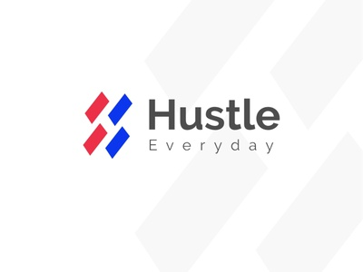Hustle Everyday clean design minimalist initials h initials h initial logo branding typography logo