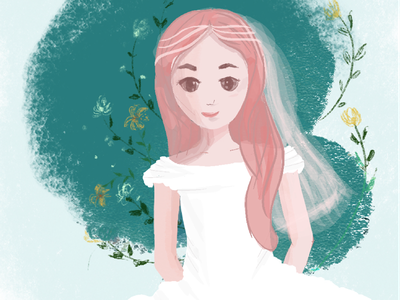 Bride with flower