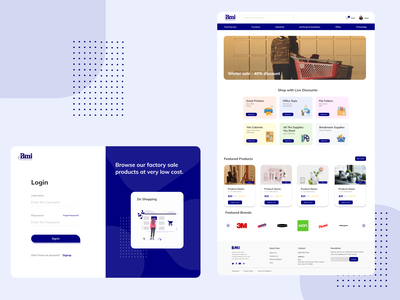 Retail Business Page dribbble best shot dribbble minimalist homepage design login login page homepage retail design retail ux illustration vector landing page ui web branding minimal design