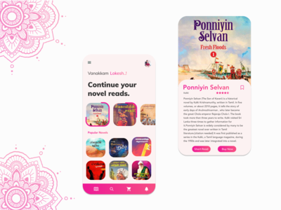 Novel Story Reader Mobile App Design