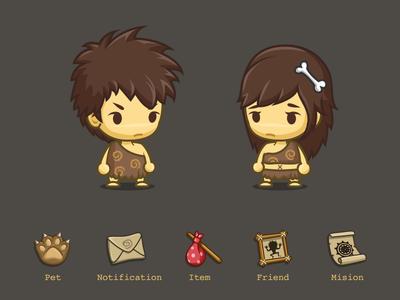 Avatar & Menu icon