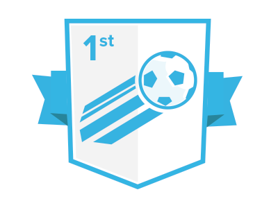 First Goal Badge soccer badge game