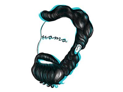 uomo doodle tshirt design illustraion