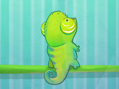First Draft Candymeleon ios game draft ios game character chameleon candymeleon