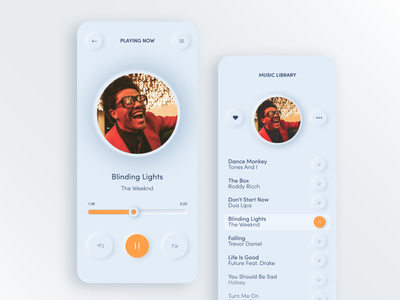 Light mode music app music app design