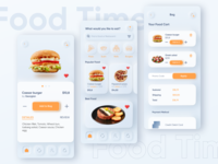 Screens of food delivery application