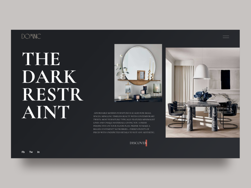 Furniture store concept furniture website furniture store furniture design furniture dark theme dark mode dark dark ui typography figma design ui