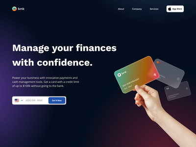 Online Banking Concept app design app ui design figma landing page hero section bank app card glassmorphism glass effect banking app banking website banking bank
