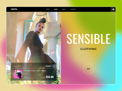 Fashion clothes store - Hero Section fashion composition girl photo typography concept style ui figma design