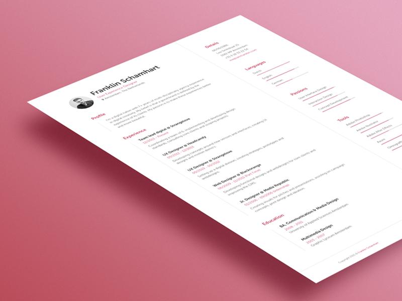Resume resume cv a4 mockup stationary