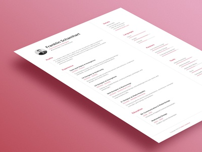 Resume resume cv a4 mockup stationary