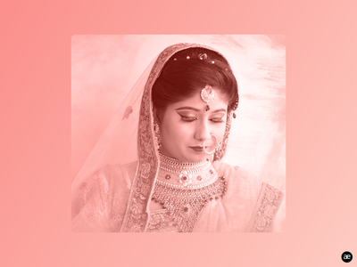Woman portrait #2 | Wedding, India wedding face people art brush elegant graphic design inspiration painting visual design web pink woman photography photo portrait figma colorful colors color