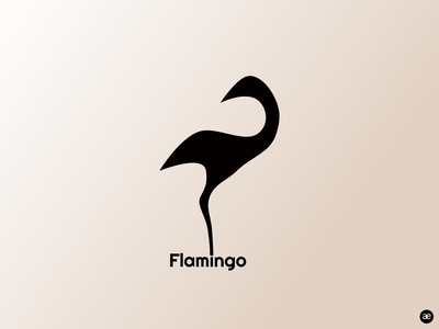 Flamingo logo concept visual design logotype minimalism logodesign elegant digital illustration design gradient concept minimal clean branding brand design flamingo black bird animal logo design logo figma