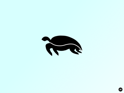 Sea turtle logo design web figma minimal illustration animal digital illustration visual art vector illustration black and white logo design graphic illustration sea turtle