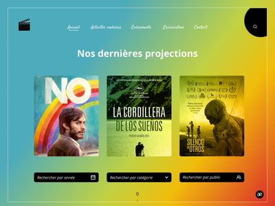 Redesign | movie association homepage colors homepage redesign layout ui ux ui design website design web design webdesign gradient movie website ux minimal web design ui graphic design colorful figma