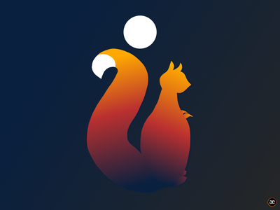 Squirrel illustration logo digital illustration gradient logo logo design minimalist design design vector gradient design red flat minimal dark vector illustration gradient squirrel animal graphic design web illustration figma