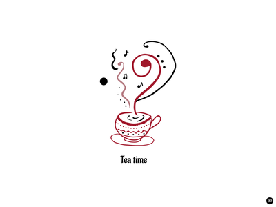 Tea time illustration art graphicdesign drawing digital painting artwork food and drink vector tea time tea black and white art digital art illustration digital illustration creative graphic design design web figma