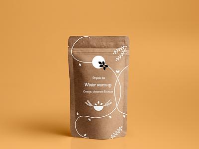 Tea Packaging | Winter warm up orange product design packaging white branding design brand identity brand design organic package design packaging design tea vector branding illustration gimp digital illustration minimal graphic design design figma