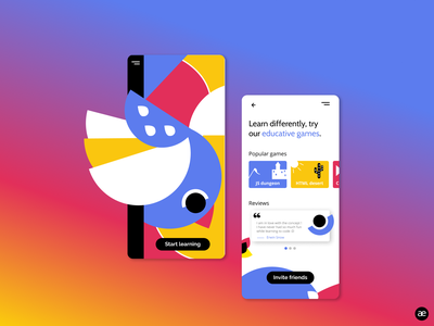 Mobile app | Education games color game design education game learn bird art ui app design app illustration gradient web digital illustration colorful digital art creative graphic design design figma