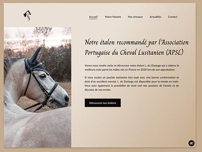Website redesign for a Lusitano horse breeder - Part 2 lusitano horses horse breeder horse breeding horse webdesign web design website redesign homepage ux ui ux design ux ui design ui web design figma