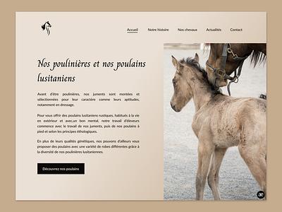 Website redesign for a Lusitano Horse Breeder - Part 3 lusitano horses horse breeder horse breeding horse web design webdesign website homepage redesign ux ui ux design ux ui design ui web design figma