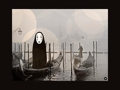Apparition in the fog fog ghost spooky halloween dribbbleweeklywarmup digital illustration graphic design figma