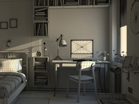 3d Bedroom Wireframe