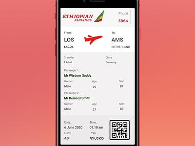 Day024 dailyui Boarding pass uidesign day024 app dailyui ui design