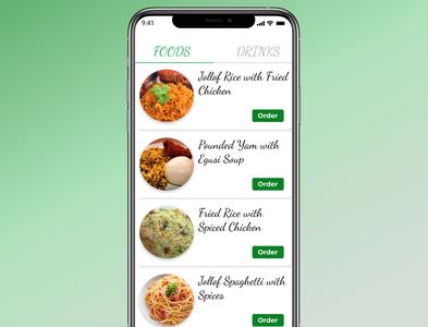 Day043 food menu  dailyui food menu daily ui uidesign app dailyui ui design