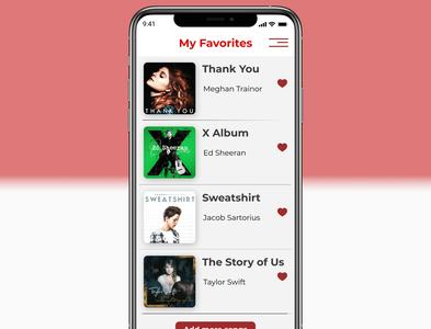 Day044 favorites screen dailyui favorites daily ui uidesign app dailyui ui design