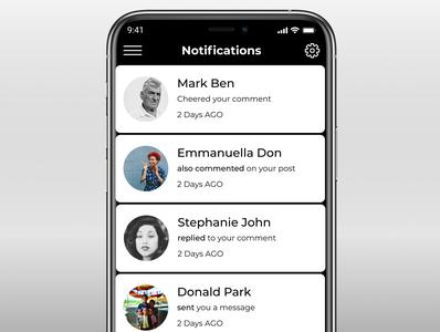 Day049 DailyUI Notifications Screen notification daily ui uidesign app dailyui ui design