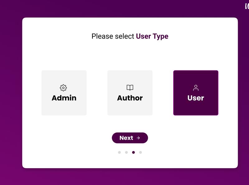 Day064 DailyUI Select User Type web uidesign ui design select user type
