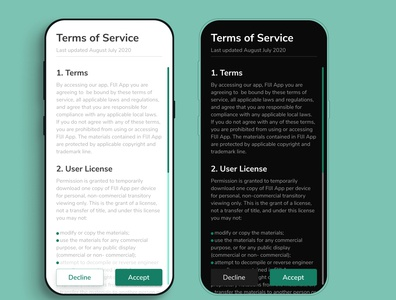 Day089 Terms of Service terms of service ux daily ui app uidesign dailyui ui design