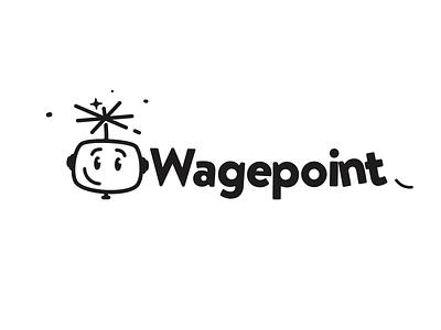 Wagepoint Logo Animation illustration logo design pop 2d digit robot wagepoint animation logo