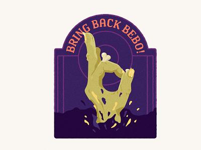 BBB #01 logo grave zombie hand bebo