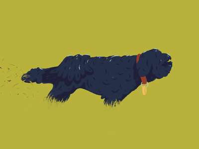 Vinnie, you're tiny. Just stop acting tough. illustration strong dog