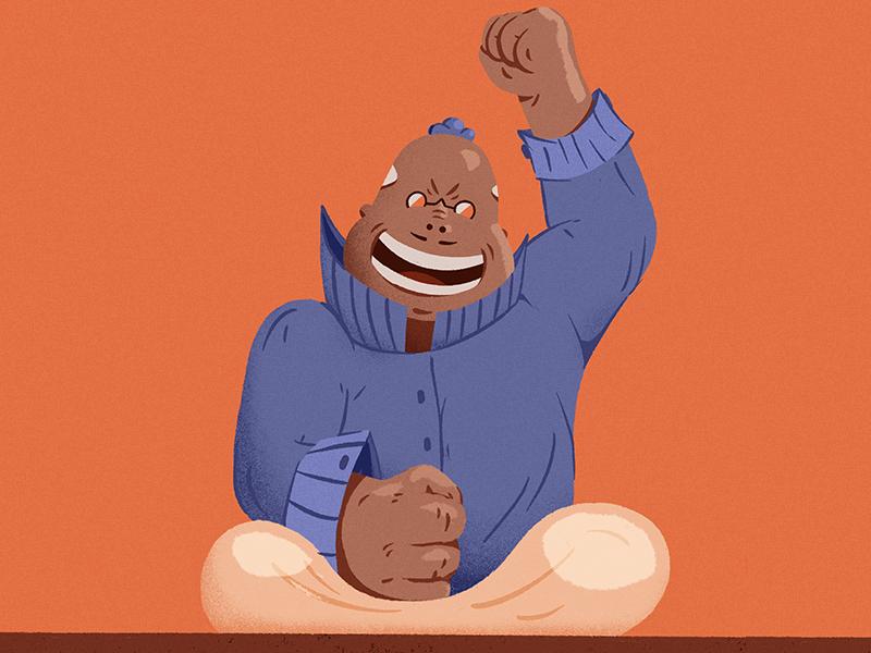 Mad Baker character design illustration bread sourdough baking
