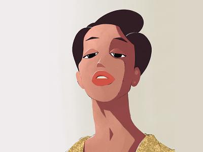Practice lipstick model fashion character illustration