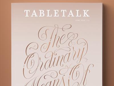 TableTalk Magazine magazine cover branding logo vector type design lettering typography illustration