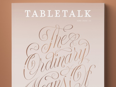 TableTalk Magazine magazine cover branding logo vector type design lettering typography illustration