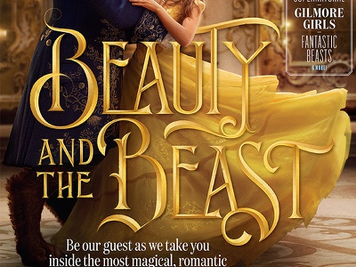 Beauty and the Beast disney gold movie print editorial design illustration type typography lettering