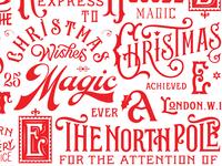 Christmas lettering