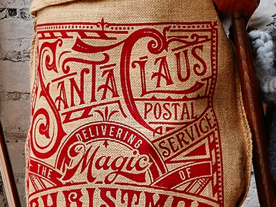 Handmade Christmas Co. christmas print logotype type design engraving etching illustration typography lettering