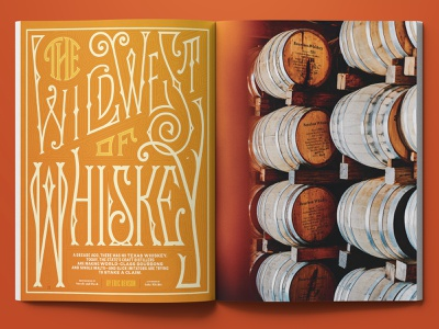 The Wild West Of Whiskey lettering artist print logo type design illustration publication editorial typography typedesign lettering